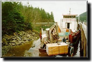 Unloading at Elfin Cove